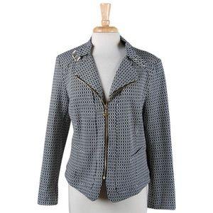 ✨ NWOT Geometric Zip-Up Blazer Jacket